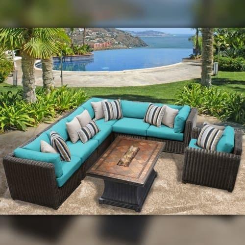 Delacora Tkc Dpf Ven08g Venice Outdoor 8 Piece Conversation Set Includes Chair Free Shipping Today 20767200