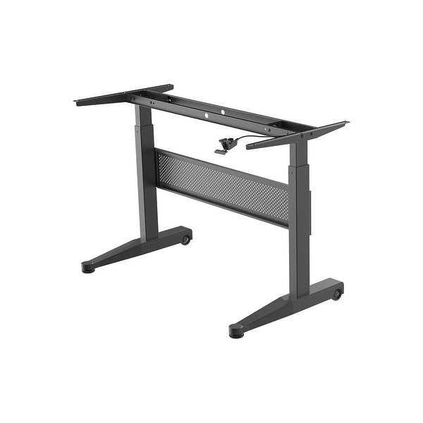 Monoprice Height Adjustable Gas-Lift Sit-Stand Desk Frame 5ft Wide - Black