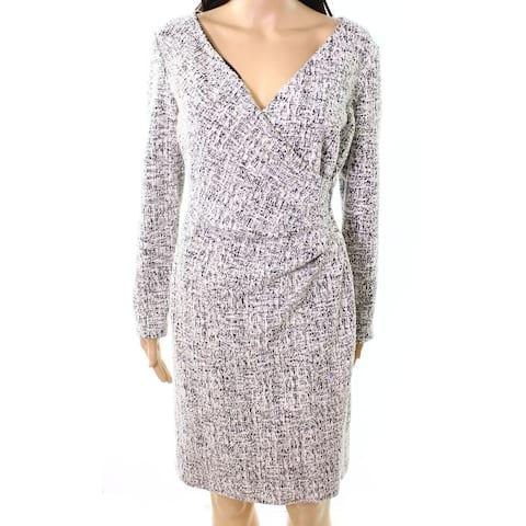 Lauren by Ralph Lauren Womens Petite Marled Sheath Dress