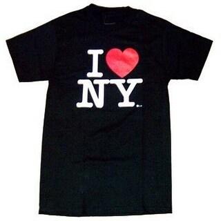 I Love Ny T-shirt (Large, Black)
