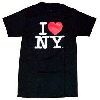 I Love Ny T-shirt (Medium, Black)