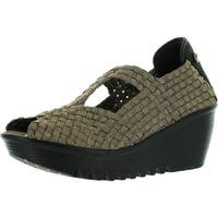 Bernie Mev Womens Eve Woven Stretch Wedges