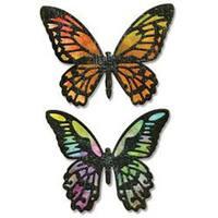 Detailed Butterflies - Sizzix Thinlits Dies 4/Pkg By Tim Holtz