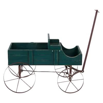 Shine Company Decorative Buckboard Wagon Planter - Cedar Wood