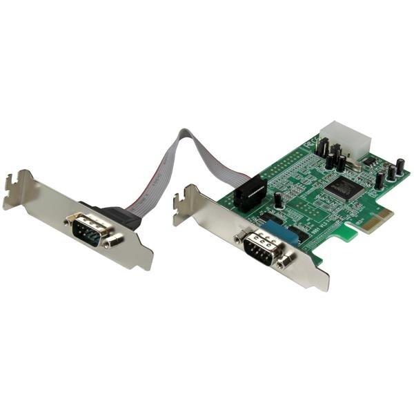 Startech Pex2s553lp 2 Port Low Profile Native Rs232 Pci Express Serial Card
