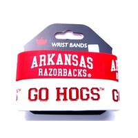 Arkansas Razorbacks Rubber Wrist Band (Set of 2) NCAA