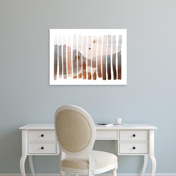 Easy Art Prints Andreas Lie's 'Up Stream' Premium Canvas Art
