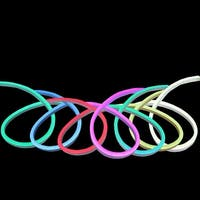 50' LED Commercial Grade RGB Neon Style Flexible Christmas Rope Lights - multi