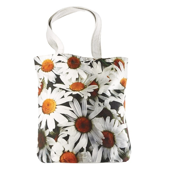 5235e440085a Shop Catalog Classics Big Bloom Canvas Tote Bag - Oversized Daisies Print  Handbag - Free Shipping On Orders Over  45 - Overstock.com - 21260405