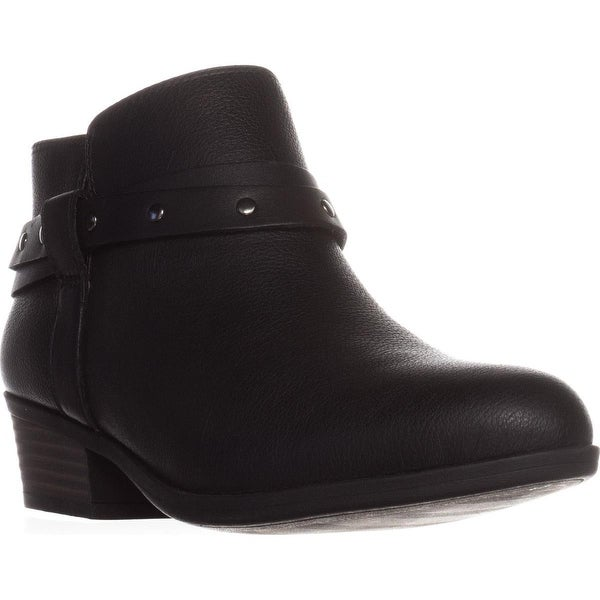 Clarks Addiy Zoie Casual Ankle Boots, Black Leather