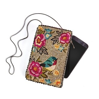 Mary Frances Women's Rose Garden Crossbody Bag - Floral Beaded Phone Purse - One size