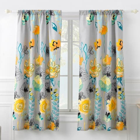 Greenland Home Fashions Watercolor Dream Curtain Panel Pair (Set of 2)