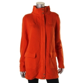 Lauren Ralph Lauren Womens Farhana Mock Turtleneck KNit Basic Jacket