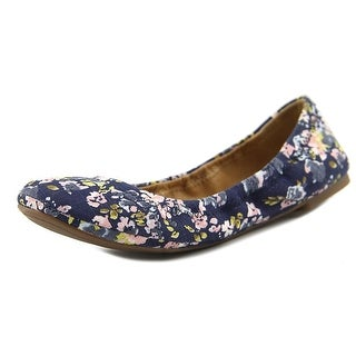 Lucky Brand Emmie Women  Round Toe Canvas Blue Ballet Flats