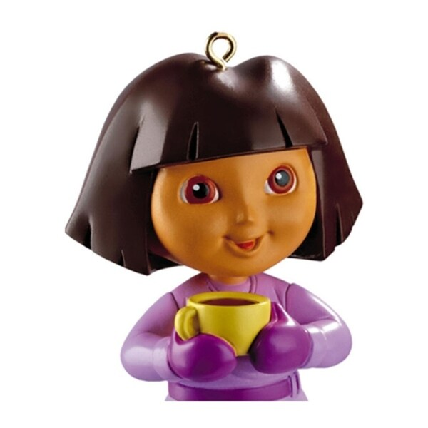 Carlton Cards Heirloom Dora the Explorer with Yellow Tea Cup Christmas Ornament