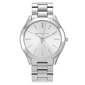 Michael Kors Women's 'Runway' MK3178 Stainless Steel Silver Dial Bracelet Watch