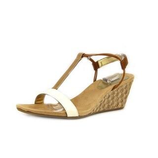 Style & Co Mulan Women Open Toe Synthetic Ivory Wedge Sandal