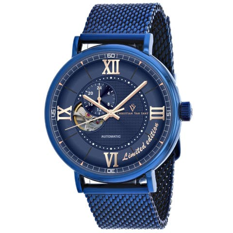 Christian Van Sant Men's Somptueuse Limited Edition Blue Dial Watch - CV1145