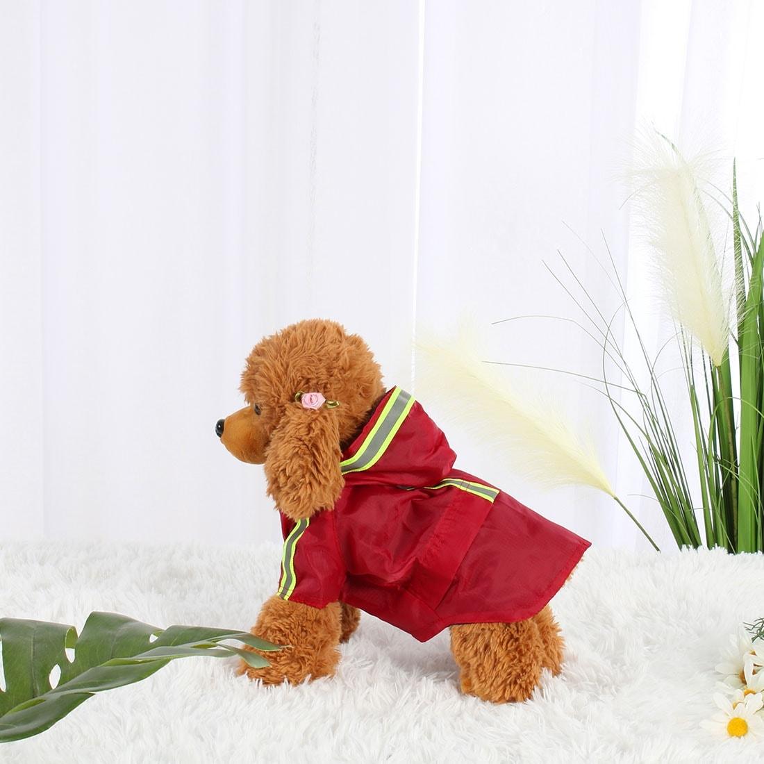 Pet Dog Raincoat Rain Jacket Poncho Clothes Nylon Puppy Water-resistant (Olive Green - XXS)