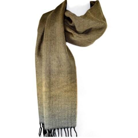 Indigo7 Authorized 50% Wool/50% Acrylic scarf Brown