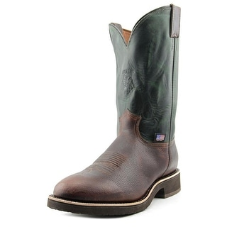Chippewa Arroyos Men Pointed Toe Leather Green Western Boot