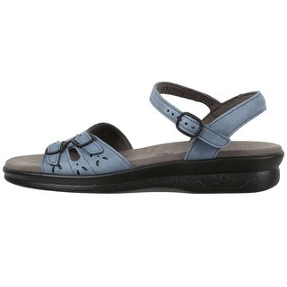 SAS Womens DUO Leather Open Toe Casual Flat Sandals (Option: Sling Back)