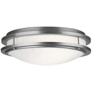 "Forecast Lighting F245736U 2 Light 18"" Wide Flush Mount Ceiling Fixture from the Cambridge Collection - Satin Nickel"