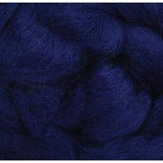 """Blue - Wool Roving 12"""" .22Oz"""