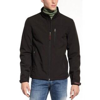 Guess Mens Solid Black Full Zip Active Basic Jacket