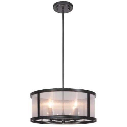 Jeremiah Lighting 36794 Danbury 4 Light Drum Shaped Indoor Pendant - 18 Inches Wide