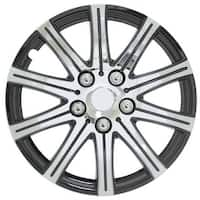 Pilot Automotive WH528-14SE-BX Stick Silver 14/ 15-inch with Black Accent Wheel Cover (Pack of 4)