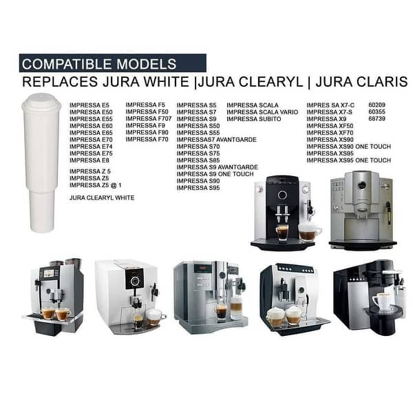 Fully Automatic Coffee Center 3 Replacement Water Filter Cartridge for Jura-Capresso IMPRESSA F7 older model #13185 Compatible with Jura Clearyl White Water Filter
