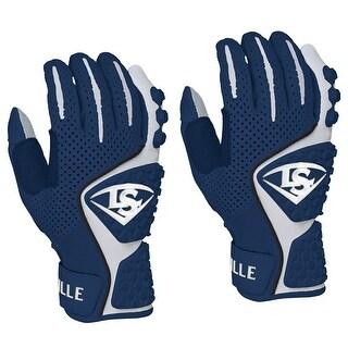 Louisville Slugger Adult Advanced Design Batting Gloves - Navy