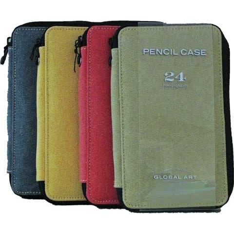 Global Art - Canvas Pencil Cases - 48 Pencil Capacity - Steel Blue