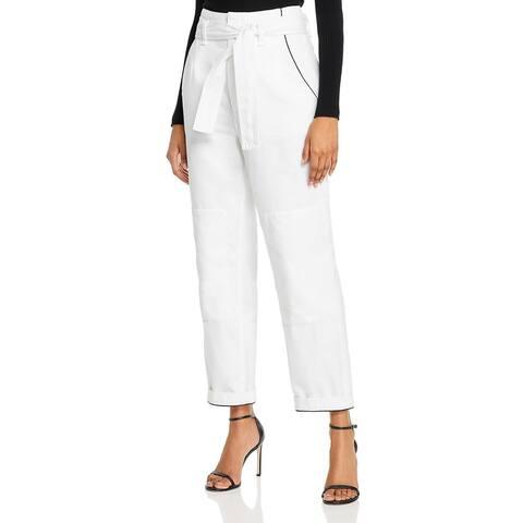 Rag & Bone Womens Jeans Denim Paperbag - White
