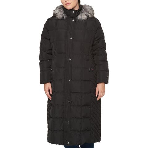 Tommy Hilfiger Womens Plus Parka Coat Winter Down