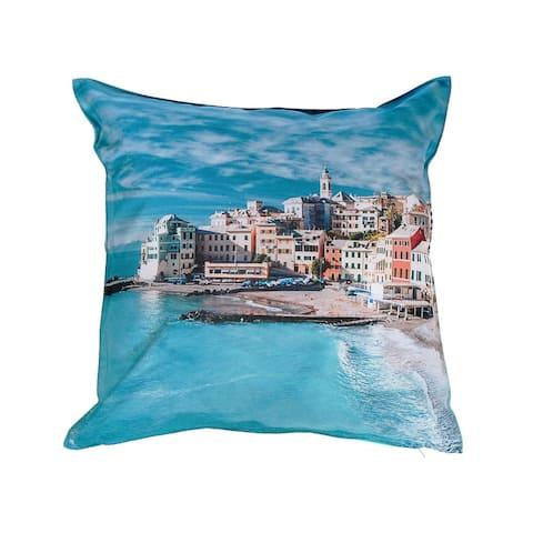 Outdoor Waterproof Cushion (seascape) - Set Of 2