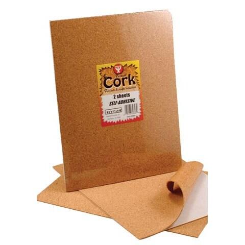 "Hygloss - Cork Sheet - Self-Adhesive - 8.5"" x 11"", 2/Pkg., Self-Adhesive"