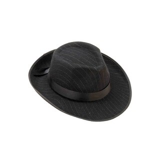 Forum Novelties Pinstriped Fedora - Black
