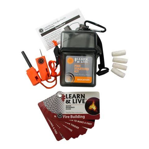 UST 20-02760 Learn & Live Fire Starting Kit with Watertight Case