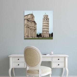 Easy Art Prints Alan Blaustein's 'Pisa Tower #1' Premium Canvas Art