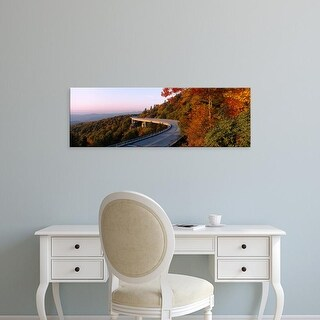 Easy Art Prints Panoramic Image 'Curved road, Linn Cove Viaduct, Blue Ridge Parkway, North Carolina' Canvas Art