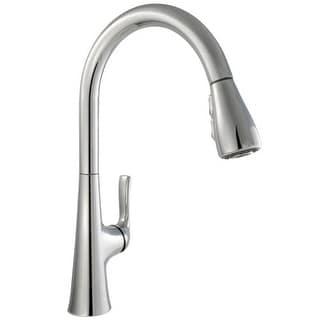 Miseno MK601 Rimini Pull-Down Multi-Flow Spray Kitchen Faucet - Includes Lifetime Warranty and Decorative Deck Plate