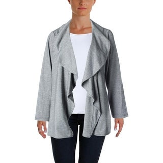 Calvin Klein Womens Plus Pattern Open Front Jacket