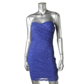 Teeze Me Womens Juniors Lace Sweetheart Cocktail Dress - 3