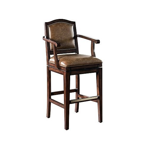 """American Heritage Billiards Martinique Bar Stool Martinique 45"""" Tall Wood Frame Bar Stool"""