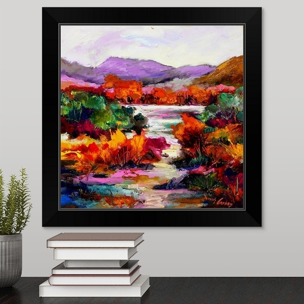 """Croton-on-Hudson "" Black Framed Print"