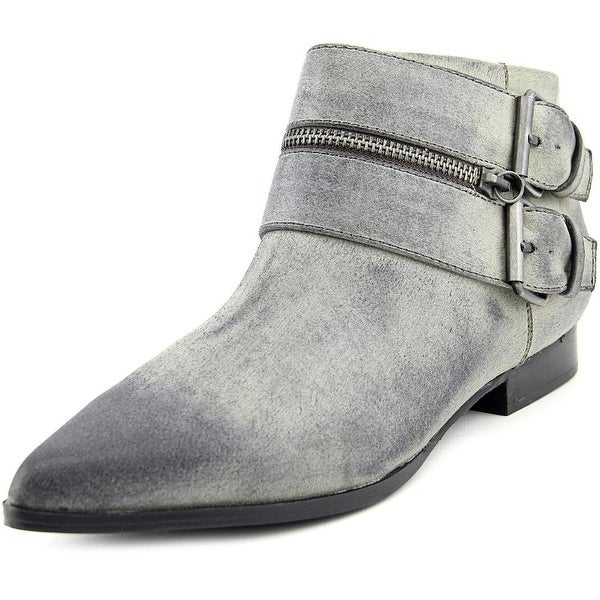 Coconuts By Matisse Uptown Women Pointed Toe Canvas Gray Ankle Boot