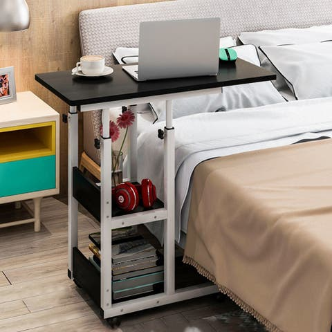 """Comfy Table Portable Height Adjustable Laptop Table Mobile End Table Color Opt - 31""""X15""""X25"""