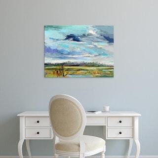 Easy Art Prints Carol Hallock's 'Marsh Skies' Premium Canvas Art